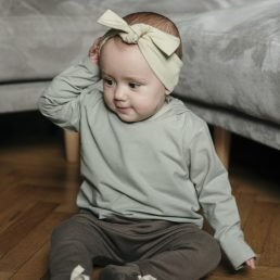 Pistachio top knot headband