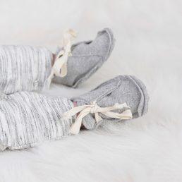 grey cotton booties