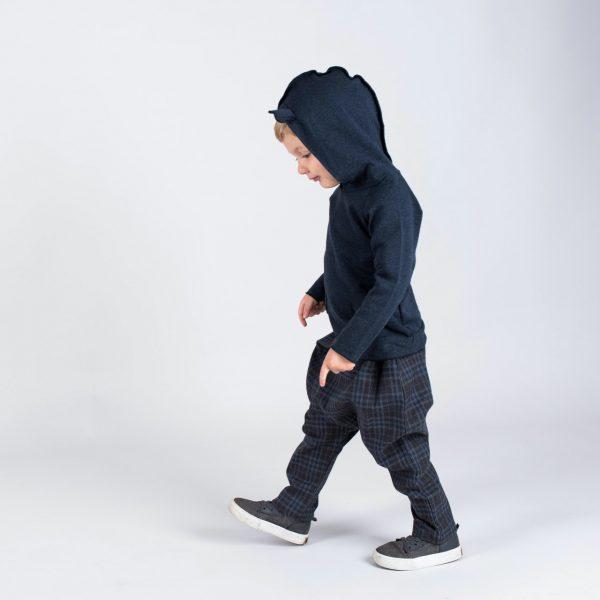 origami pants and hoodie