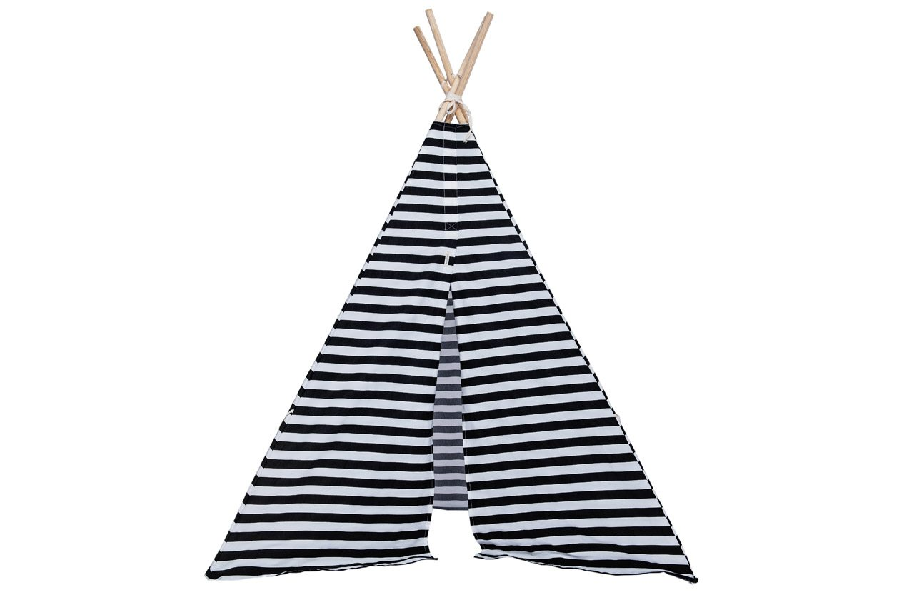 black and white tipi