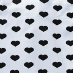 White with black hearts