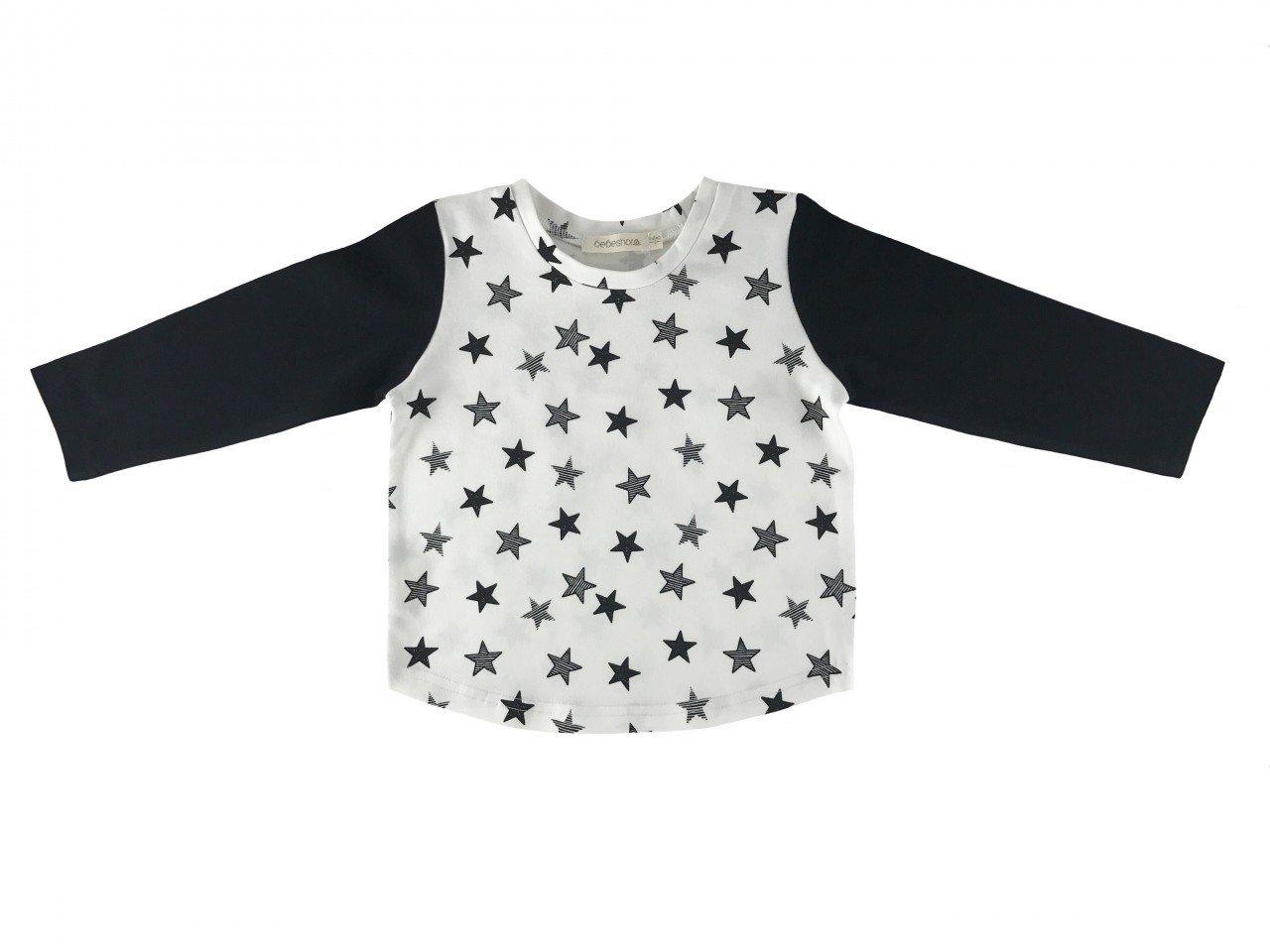 Black stars tee