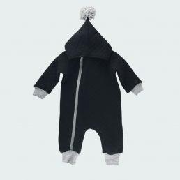 black pom-pom jumpsuit