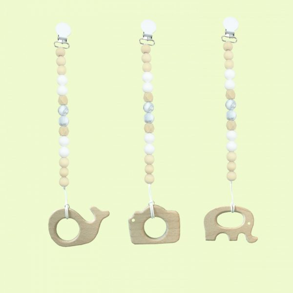 White wooden teether