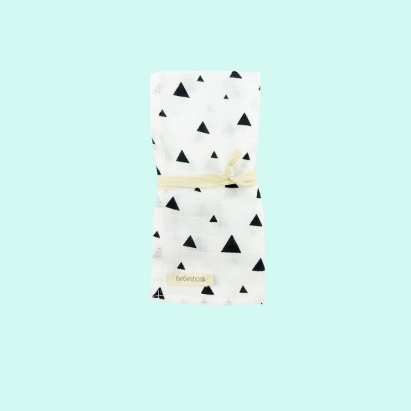 black triangles muslin