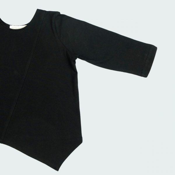 black origami long sleeve tee