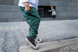 emerald green baggy pocket pants