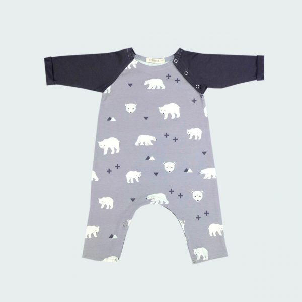 bear baby playsuit