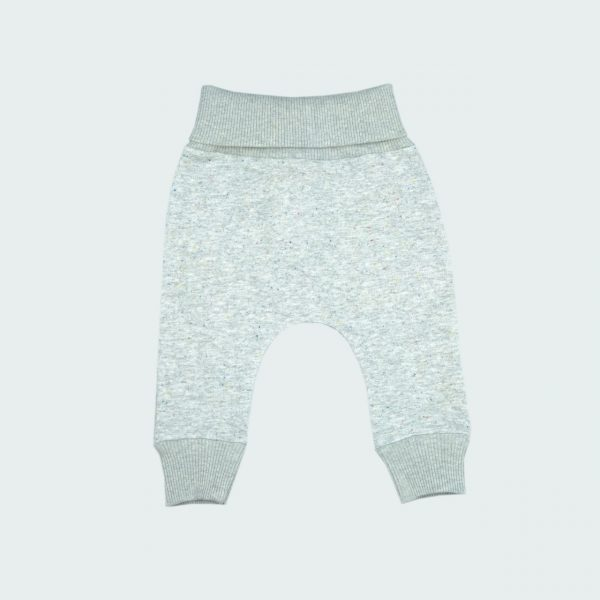 grey melange baby pants