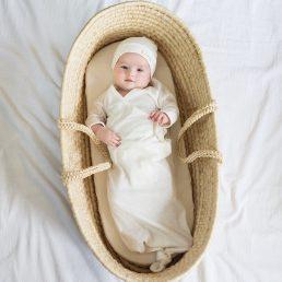 organic cotton baby kimono gown
