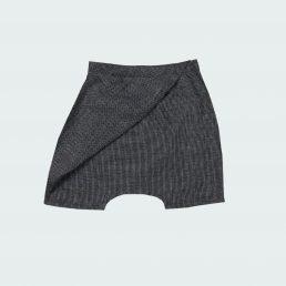 black short origami pants