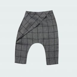 checked origami pants