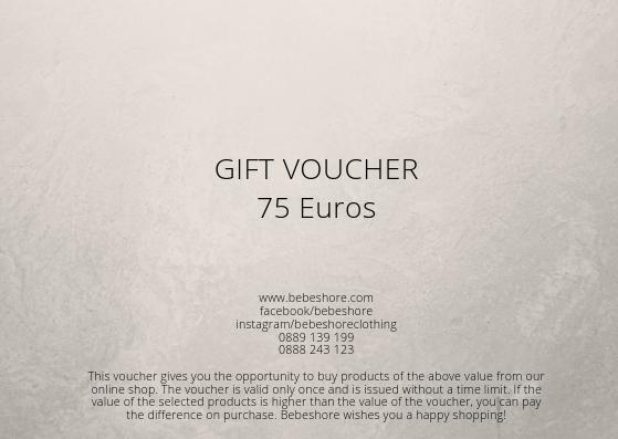 gift voucher 75 euros/ 150lv