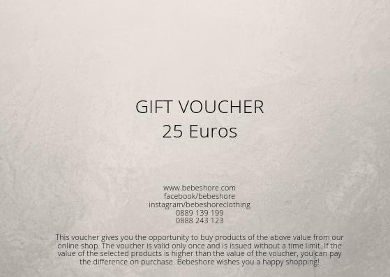 gift voucher 25 euros