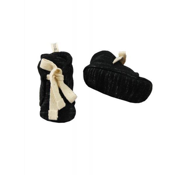 black melange shoes