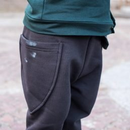 Charcoal grey baggy pocket pants