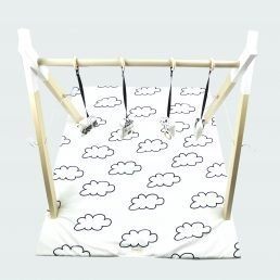 baby gym with clouds baby mat