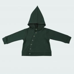 forest green asymmetric hoodie