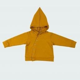Golden yellow asymmetric hoodie