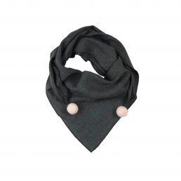 scarf with pom-poms