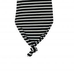 Striped kimono baby gown