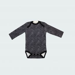 Black and white polka dot bodysuit