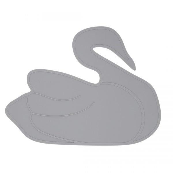 placemat swan grey web