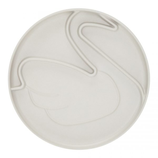 plate swan grey web