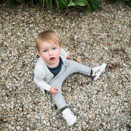 Stone grey baby pants