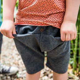 charcoal grey short pants