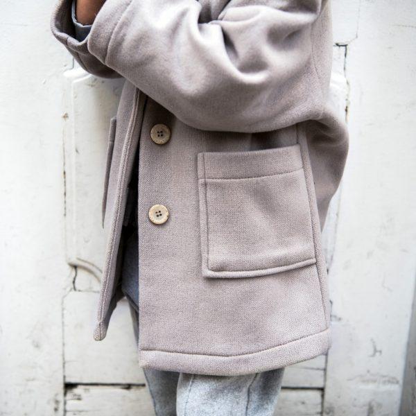 icy mauve coat