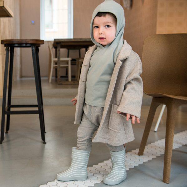 beige melange coat