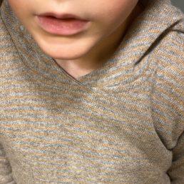 ochre and grey hoodie