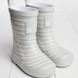 Grey striped wellies by Grass & Air