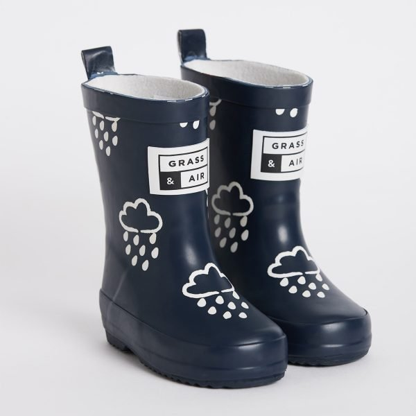 Navy Colour-Revealing Wellies