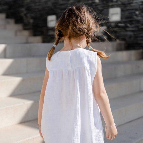 muslin white dress