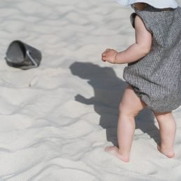 Summer baby salopette