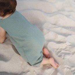 Muslin baby romper