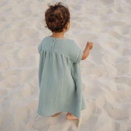 Muslin sage dress