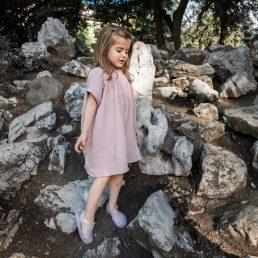 Muslin blush dress