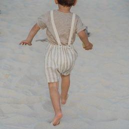 Summer linen romper