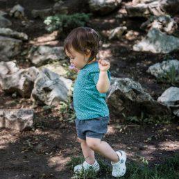 Charcoal grey baby shorts