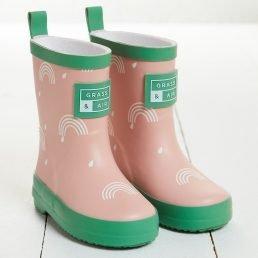 Pink wellies Grass & Air